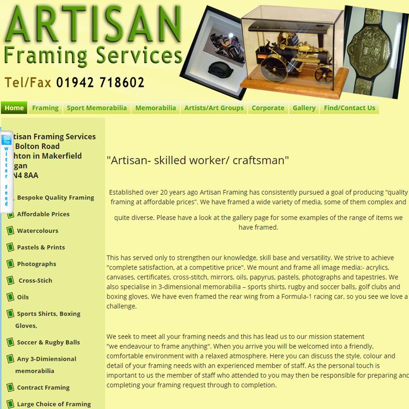 Artisan Framing Services