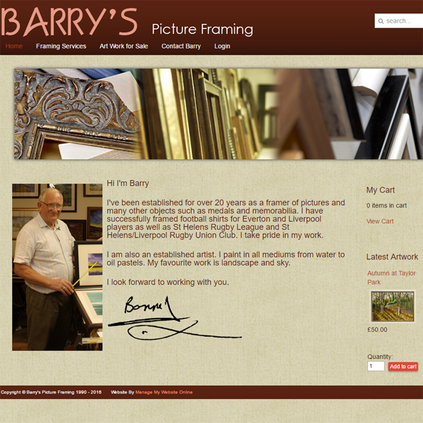 Barry's Picture Framing